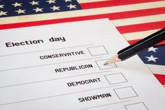 Ψήφος εκλογών Στοκ φωτογραφία με δικαίωμα ελεύθερης χρήσης