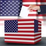 Ψήφος και κιβώτιο εκμετάλλευσης χεριών Στοκ Φωτογραφία