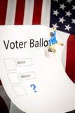 Ψήφος ψηφοφόρων με χειρότερα ή worser σε το Στοκ εικόνα με δικαίωμα ελεύθερης χρήσης