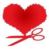 ψαλίδι καρδιών Στοκ εικόνα με δικαίωμα ελεύθερης χρήσης