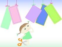 ψαλίδι κοριτσιών απεικόνιση αποθεμάτων