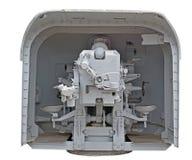 ψαλιδίζοντας το πυροβόλο όπλο ΙΙ απομονωμένος ναυτικός πολεμικός άσπρος κόσμος μονοπατιών ΙΙ πολεμικός κόσμος Στοκ Εικόνες