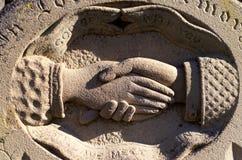 ψαμμίτης ταφοπέτρων Στοκ Φωτογραφίες