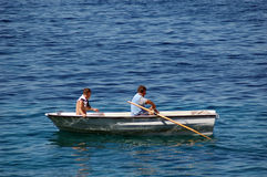 ψαράδες βαρκών στοκ εικόνα με δικαίωμα ελεύθερης χρήσης