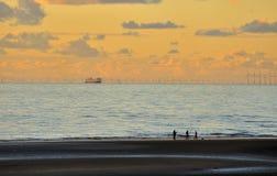 Ψαράδες, πορθμείο και στρόβιλοι Στοκ Εικόνες