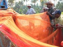 Ψαράδες, Marari παραλία, Κεράλα Ινδία Στοκ Εικόνες