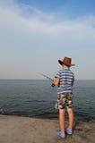 ψαράς αγοριών Στοκ εικόνες με δικαίωμα ελεύθερης χρήσης
