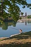 Ψαράς από τον ποταμό στοκ εικόνα