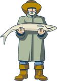 Ψαράς επαγγέλματος διανυσματική απεικόνιση