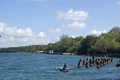 Ψαράς, κόλπος Cienfuegos, Κούβα Στοκ Φωτογραφία