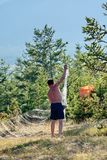 Ψαράς με ένα δίχτυ Στοκ Εικόνα