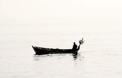 ψαράς μόνος Στοκ Φωτογραφία