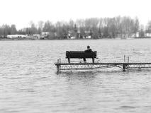 ψαράς μόνος Στοκ εικόνες με δικαίωμα ελεύθερης χρήσης