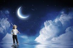Ψαράς παιδιών Στοκ φωτογραφίες με δικαίωμα ελεύθερης χρήσης