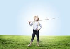 Ψαράς παιδιών Στοκ Φωτογραφία