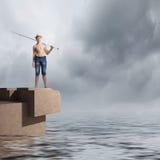 Ψαράς παιδιών Στοκ φωτογραφία με δικαίωμα ελεύθερης χρήσης