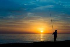 ψαράς παραλιών Στοκ Εικόνες