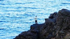 Ψαράς που περιμένει μια σύλληψη Στοκ εικόνες με δικαίωμα ελεύθερης χρήσης