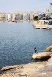 Ψαράς στη Μάλτα Στοκ Φωτογραφίες