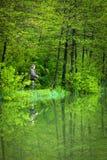 Ψαράς στη δράση στοκ φωτογραφία