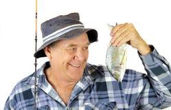 ψαράς υπερήφανος Στοκ εικόνα με δικαίωμα ελεύθερης χρήσης