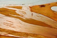 Ψαράδες θαλασσίως κάτω από το setsun Στοκ Φωτογραφίες
