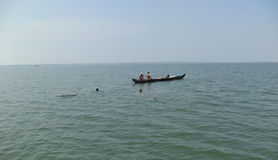 Ψαράδες που πιάνουν τα ψάρια, Κεράλα, Ινδία Στοκ φωτογραφία με δικαίωμα ελεύθερης χρήσης