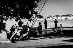 Ψαράδες σε μια φωτεινή ημέρα Στοκ Φωτογραφίες