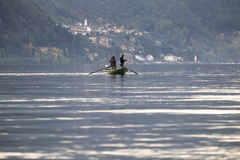 Ψαράδες στη βάρκα Στοκ Εικόνα