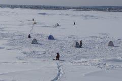 Ψαράδες στον ποταμό του Tom Στοκ εικόνες με δικαίωμα ελεύθερης χρήσης