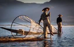Ψαράδες Inle Στοκ Εικόνες