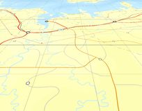 ψαρευμένος χάρτης Στοκ Εικόνες