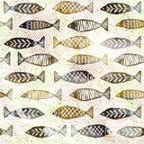 Ψαριών Σκανδιναβικός κλασικός σχεδίων σύστασης σύγχρονος διανυσματική απεικόνιση