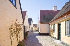 Ψαροχώρι με τα σπίτια του 16ου αιώνα Στοκ φωτογραφία με δικαίωμα ελεύθερης χρήσης