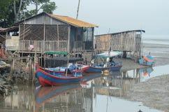 Ψαροχώρι σε Penang, Μαλαισία Στοκ Εικόνα