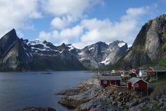 Ψαροχώρι στα νησιά Lofoten, Νορβηγία Στοκ Εικόνα