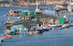 Ψαροχώρι στο Χογκ Κογκ Στοκ Εικόνες