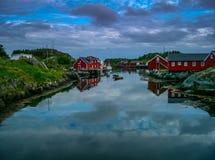 Ψαροχώρι της Νορβηγίας Stamsund Στοκ εικόνα με δικαίωμα ελεύθερης χρήσης