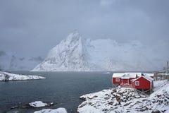 Ψαροχώρι Hamnoy στα νησιά Lofoten, Νορβηγία στοκ εικόνες με δικαίωμα ελεύθερης χρήσης