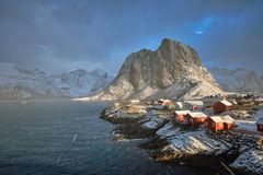 Ψαροχώρι Hamnoy στα νησιά Lofoten, Νορβηγία Στοκ εικόνα με δικαίωμα ελεύθερης χρήσης