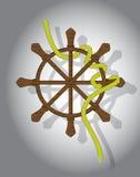 ψαλίδισμα που απομονώνεται πέρα από το λευκό ροδών σκαφών μονοπατιών Στοκ εικόνες με δικαίωμα ελεύθερης χρήσης