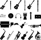 ψαλίδισμα της ψηφιακής γρατσουνιάς μονοπατιών μουσικής εικονιδίων συμπεριλαμβανόμενης απεικόνιση Στοκ φωτογραφίες με δικαίωμα ελεύθερης χρήσης