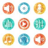 ψαλίδισμα της ψηφιακής γρατσουνιάς μονοπατιών μουσικής εικονιδίων συμπεριλαμβανόμενης απεικόνιση απεικόνιση αποθεμάτων
