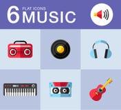 ψαλίδισμα της ψηφιακής γρατσουνιάς μονοπατιών μουσικής εικονιδίων συμπεριλαμβανόμενης απεικόνιση Στοκ Φωτογραφίες