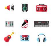 ψαλίδισμα της ψηφιακής γρατσουνιάς μονοπατιών μουσικής εικονιδίων συμπεριλαμβανόμενης απεικόνιση Στοκ εικόνες με δικαίωμα ελεύθερης χρήσης