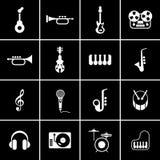 ψαλίδισμα της ψηφιακής γρατσουνιάς μονοπατιών μουσικής εικονιδίων συμπεριλαμβανόμενης απεικόνιση Στοκ Φωτογραφία