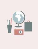 ψαλίδισμα του ψηφιακού ταξιδιού γρατσουνιών μονοπατιών εικονιδίων συμπεριλαμβανόμενου απεικόνιση Στοκ εικόνες με δικαίωμα ελεύθερης χρήσης