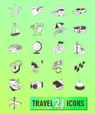 ψαλίδισμα του ψηφιακού ταξιδιού γρατσουνιών μονοπατιών εικονιδίων συμπεριλαμβανόμενου απεικόνιση διανυσματική απεικόνιση