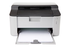 ψαλιδίζοντας απομονωμένο λευκό εκτυπωτών μονοπατιών λέιζερ Στοκ εικόνες με δικαίωμα ελεύθερης χρήσης