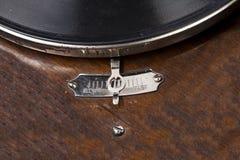 ψαλιδίζοντας συμπεριλαμβανόμενος gramophone απομονωμένος τρύγος μονοπατιών Στοκ Εικόνα